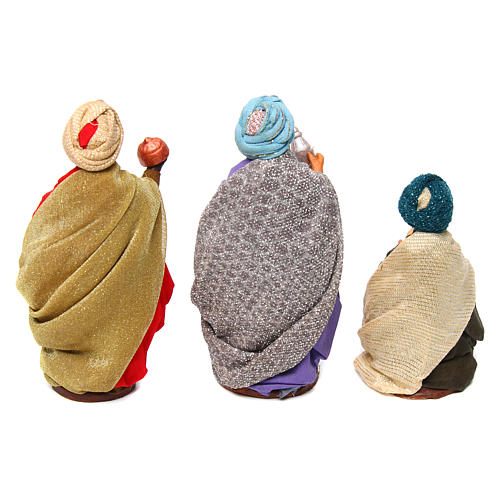 Neapolitan nativity scene Three Wise Men 12 cm 5