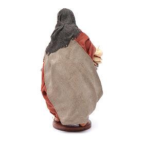 Donna con cesto taralli cuoppi 12 cm presepe napoletano s4