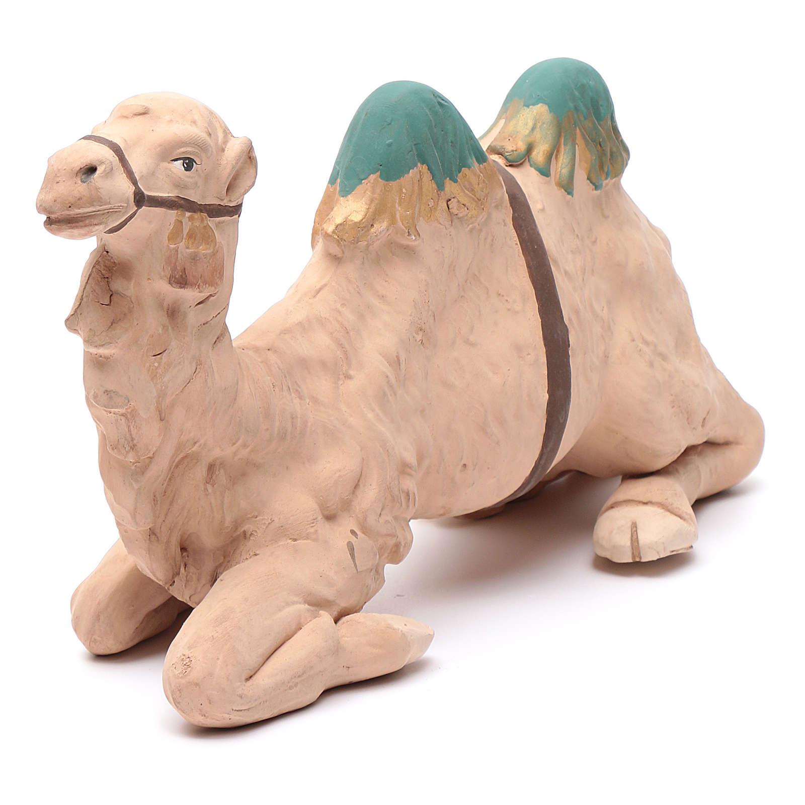 Neapolitan nativity scene decorated sitting camel in terracotta 24 cm 4