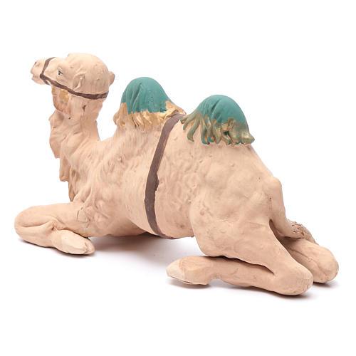 Neapolitan nativity scene decorated sitting camel in terracotta 24 cm 2
