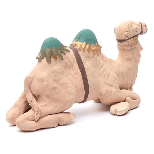Neapolitan nativity scene decorated sitting camel in terracotta 24 cm 3