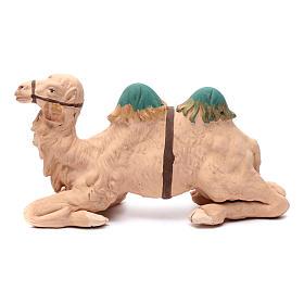 Neapolitan nativity scene decorated sitting camel in terracotta 24 cm s1