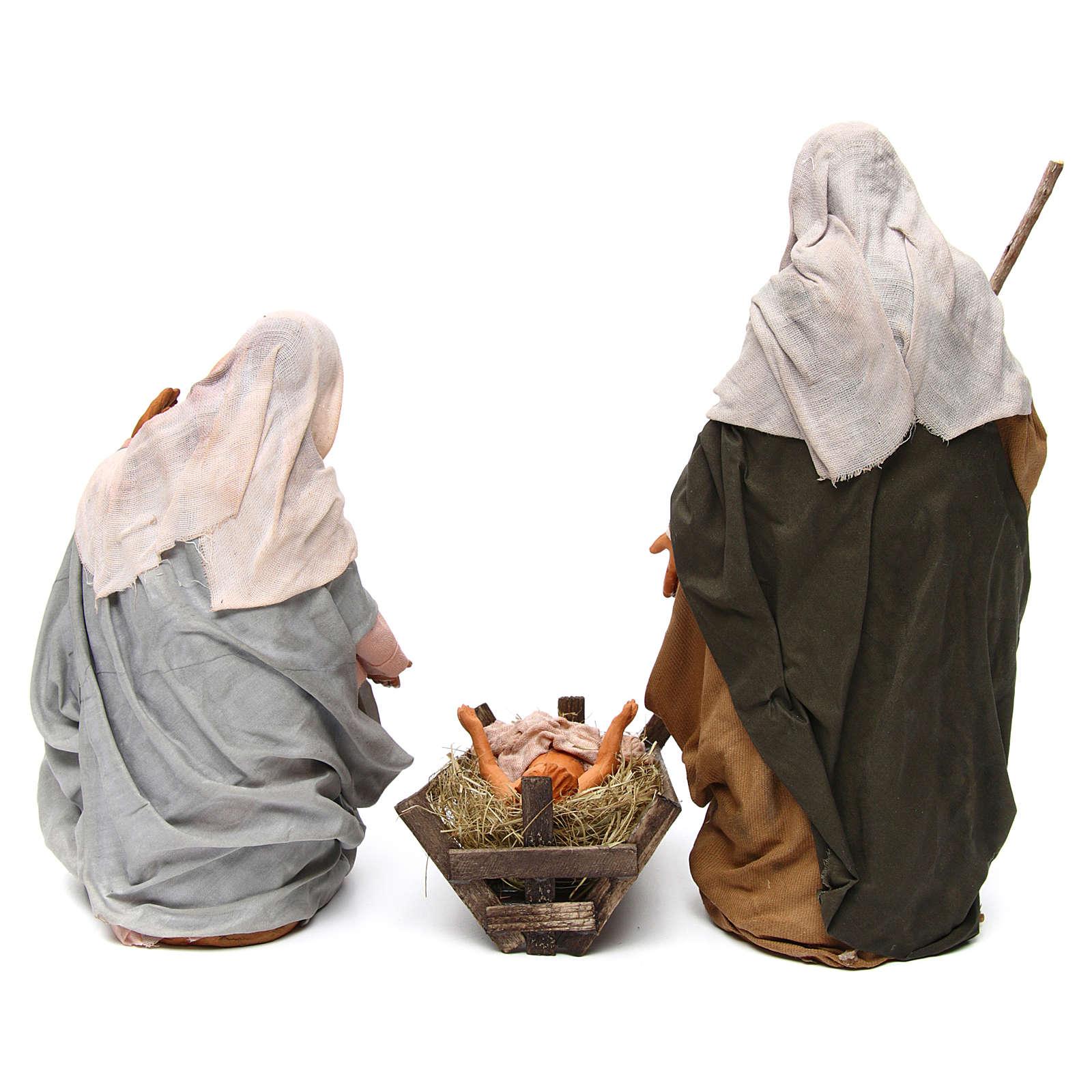 Neapolitan nativity scene Holy family 30 cm 4