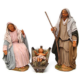Neapolitan nativity scene Holy family 30 cm s1