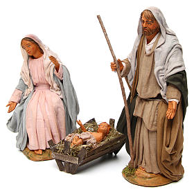 Neapolitan nativity scene Holy family 30 cm s2