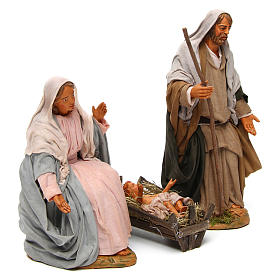 Neapolitan nativity scene Holy family 30 cm s3