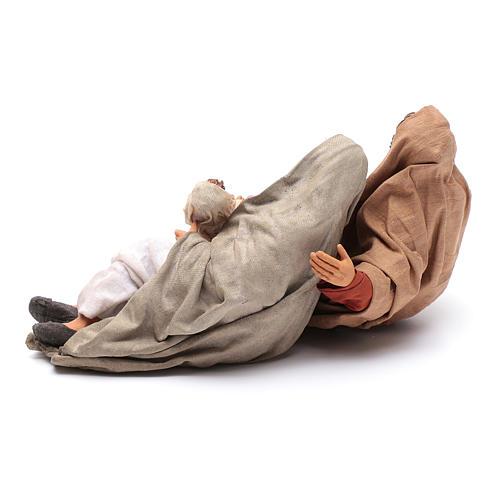 Natività dormiente 30 cm presepe napoletano 3