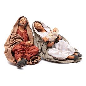 Neapolitan nativity scene Holy Family new povera 30 cm s1
