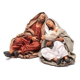 Neapolitan nativity scene Holy Family new povera 30 cm s2