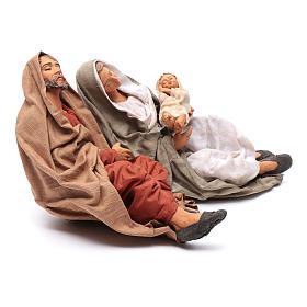 Neapolitan nativity scene Holy Family new povera 30 cm s4
