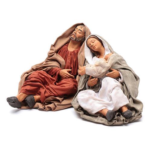 Neapolitan nativity scene Holy Family new povera 30 cm 2