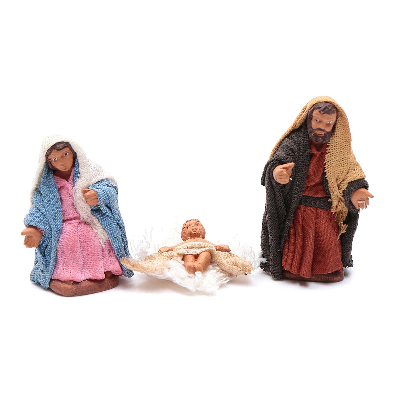 Neapolitan nativity scene kit 10 pieces 5 cm 4