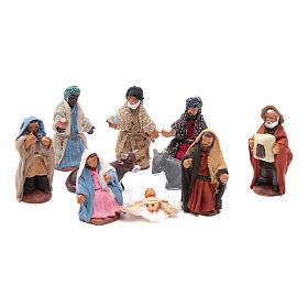 Neapolitan nativity scene kit 10 pieces 5 cm s1