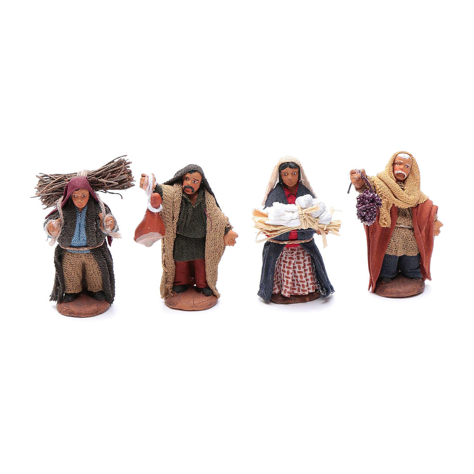 Kit pastores surtidos 6 cm set 10 piezas 4