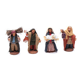 Neapolitan nativity scene kit 10 pieces 6 cm s3