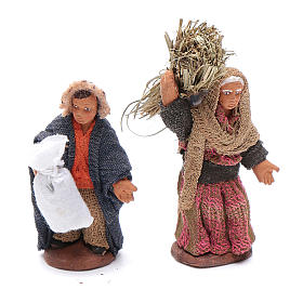 Neapolitan nativity scene kit 10 pieces 6 cm s4