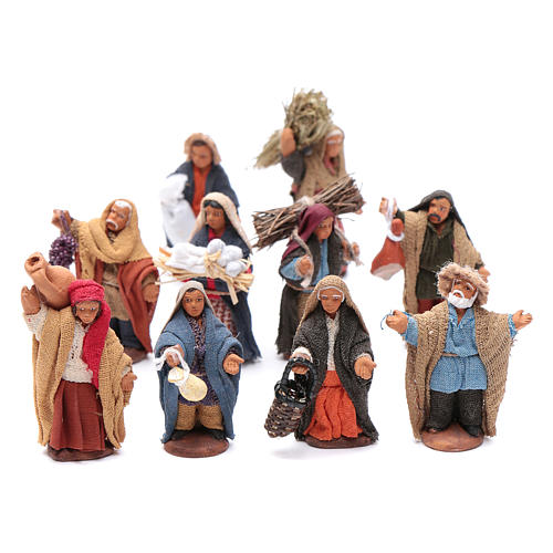 Neapolitan nativity scene kit 10 pieces 6 cm 1