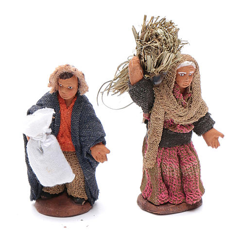 Neapolitan nativity scene kit 10 pieces 6 cm 4