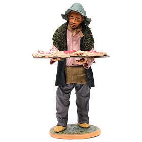 Uomo con le pizze 30 cm presepe di Napoli s1