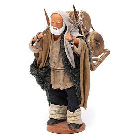 Hombre que lleva barriles madera belén de Nápoles 12 cm de altura media s2