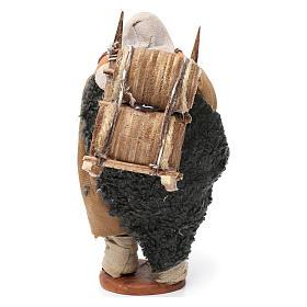 Portatore delle botti legno presepe di Napoli 12 cm s4