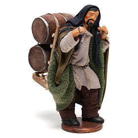Man Carrying wood Barrels Nativity from Naples 12 cm s4