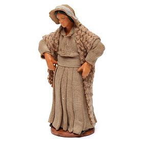 Donna con mani sui fianchi presepe di Napoli 12 cm s2