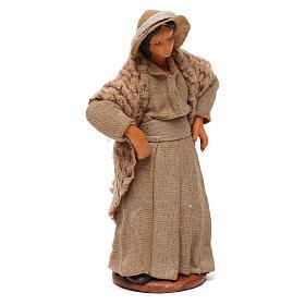 Donna con mani sui fianchi presepe di Napoli 12 cm s3