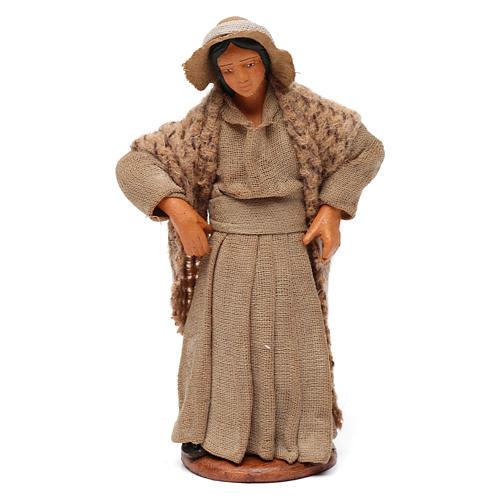 Donna con mani sui fianchi presepe di Napoli 12 cm 1