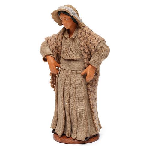 Donna con mani sui fianchi presepe di Napoli 12 cm 2