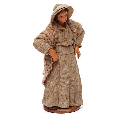 Donna con mani sui fianchi presepe di Napoli 12 cm 3