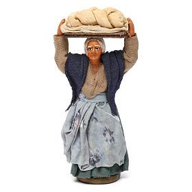 Donna con pane presepe napoletano 10 cm s1