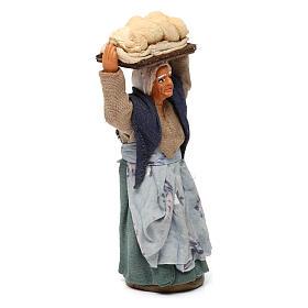 Donna con pane presepe napoletano 10 cm s3