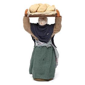Donna con pane presepe napoletano 10 cm s4