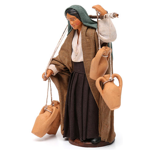 Woman Carrying Vases Neapolitan Nativity 12 cm 2
