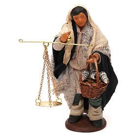 Belén napolitano: Hombre con balanza y cesta belén napolitano 12 cm de altura media