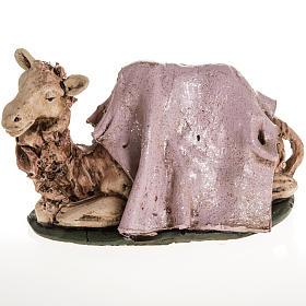 Presépio Terracota Deruta: Camelo cor-de-rosa terracota 18 cm