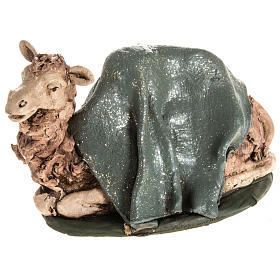Presépio Terracota Deruta: Camelo verde terracota 18 cm