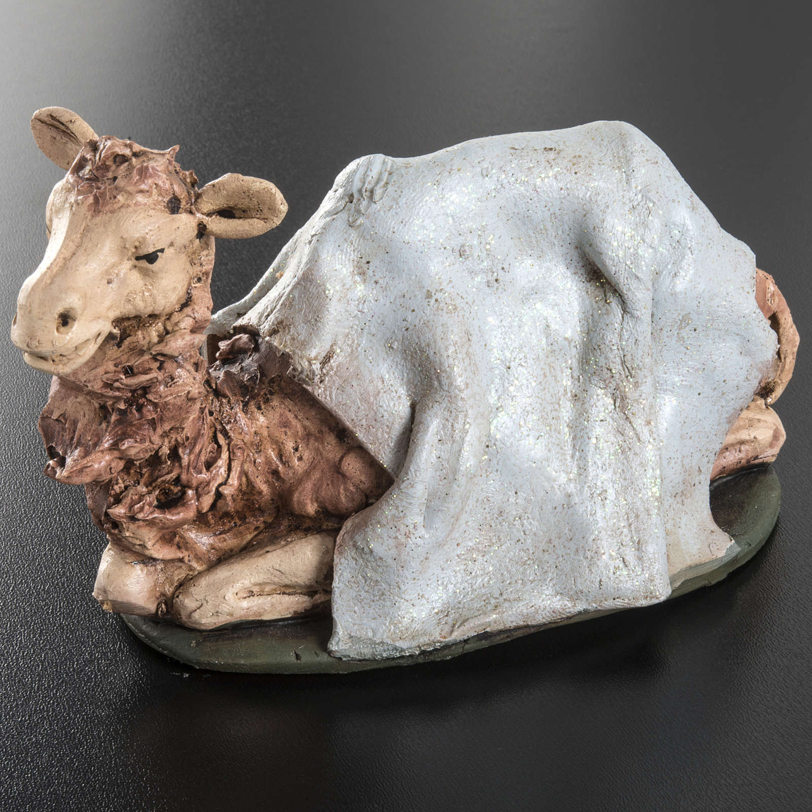 Camello azul  para el pesebre en arcilla de 18cm 4