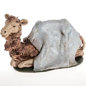Camello azul  para el pesebre en arcilla de 18cm s1