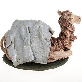 Camello azul  para el pesebre en arcilla de 18cm s2