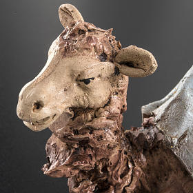 Camello azul  para el pesebre en arcilla de 18cm s4