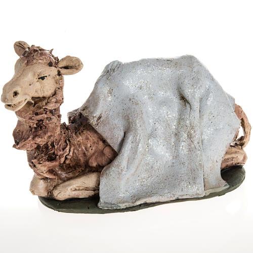 Camello azul  para el pesebre en arcilla de 18cm 1