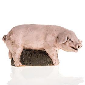 Cochon terre cuite crèche 18cm s1