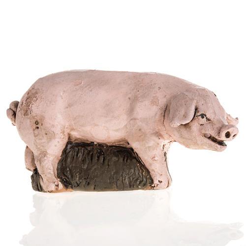 Cochon terre cuite crèche 18cm 1