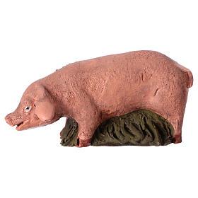 Presépio Terracota Deruta: Porco em terracota para presépio de Deruta com figuras de  18 cm altura média