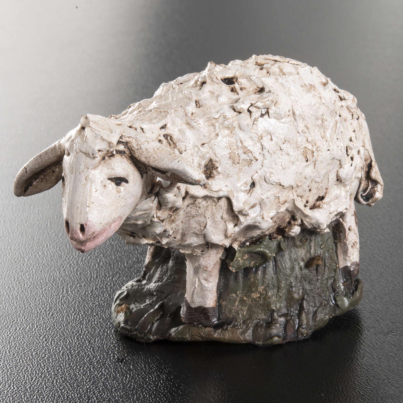 Mouton terre cuite crèche 18 cm 4