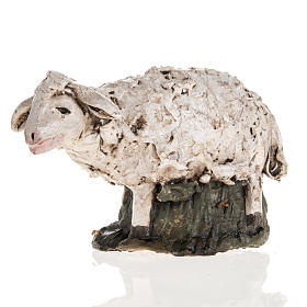 Mouton terre cuite crèche 18 cm s1