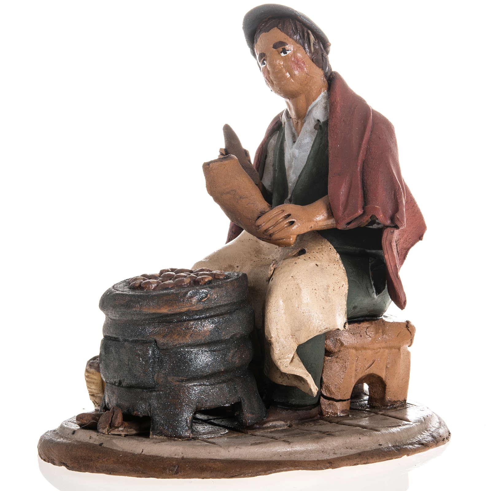 Venditore di castagne terracotta 18 cm 4