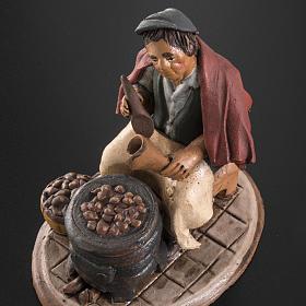 Venditore di castagne terracotta 18 cm s5